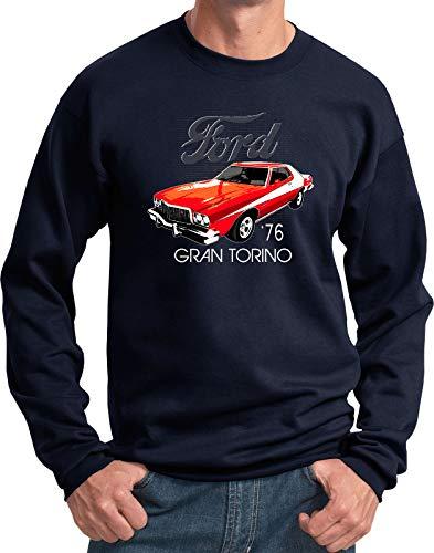 Ford 1976 Red Gran Torino Sweatshirt, Navy XL
