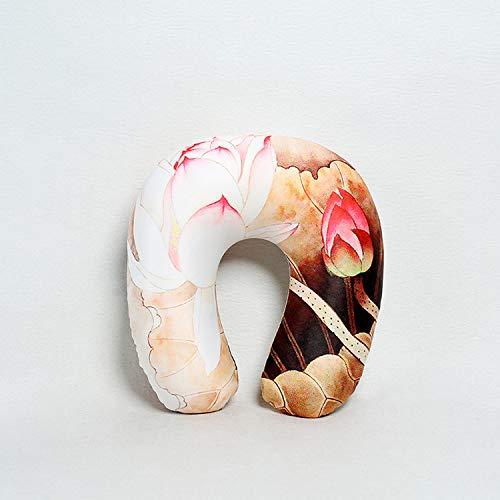 Liggend print Schuimdeeltje U-vormig kussen Digitale print nekkussen U kussen Schuim Particle Nekkussen Reiskussen Style 3