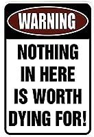 面白い金属マークブリキマーク壁装飾装飾マーク鉄ペンキ中庭のガレージへの不法侵入ではないと警告していますあなたは標的になっています