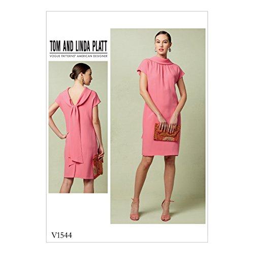 Vogue Mustern Schnittmuster Enganliegendes Kleid, Mehrfarbig, Größen 14–22