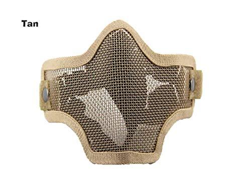 AOLS Maske Steel Mesh Half Face für Paintball & Airsoft (Tan)
