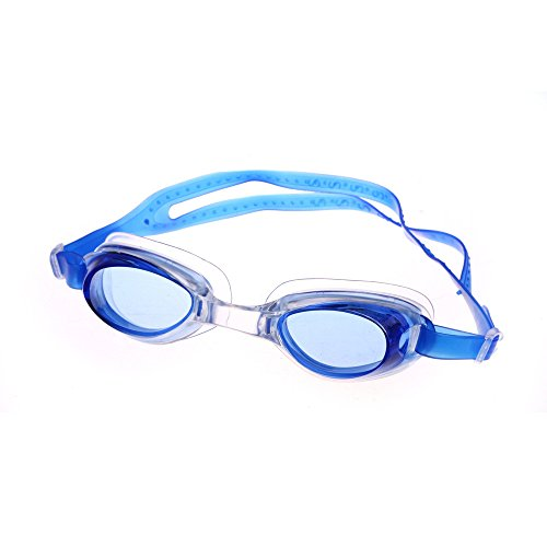 Price comparison product image Fine Swimming Goggles No Leaking Anti Fog UV Protection Triathlon for Adult Men Women Youth Kids Child,  with Mirrored & Waterproof,  UV Protection Clear Lens (Blue)