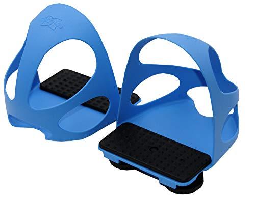 Reitsport Amesbichler AMKA Steigbügeleinlagen mit Durchrutschschutz 1 Paar = 2 Stück für Erwachsene blau