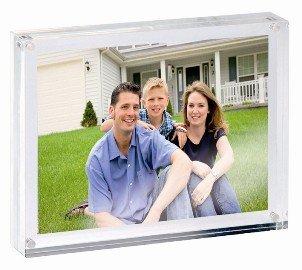Acryl fotolijst fotohouder 70x50x24 mm magneetsluiting