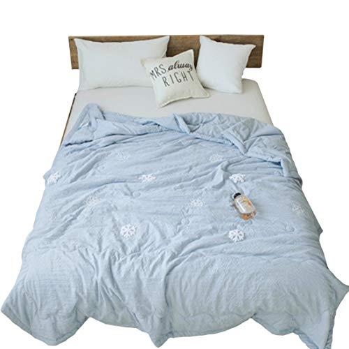 Teyun. Klimaanlage Quilts gestickte Baumwolle Quilt Summer Cool Decken (Color : Blue, Size : 150 * 200CM)