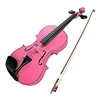 Walory 初心者のためのバイオリン、4/4バイオリンメイプルウッド素材、ギグバッグ付きソリッドウッドボウ、初心者向け弦楽器