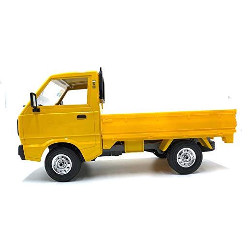 2,4 GHz, WPL D12 1/10 RC Auto simulación Drift Truck, luz LED Rc Auto USB Charging with Red Light,para niños regalos (C)