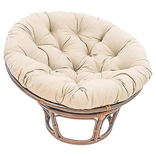 Papasan Chair Cushion, Papasan-Kissen, Floor Cushion for Swinging Chair, Papasansessel Kissen, Round Papasan Armchair, Outdoor Patio Swivel Chair Cushion,Beige,70x70cm
