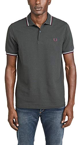 """Fred Perry Twin Tipped Shirt """"Anthracite"""", Polo - S"""