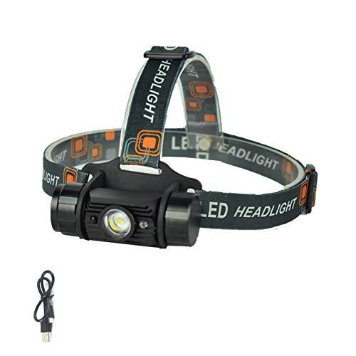 WWWL Linterna Frontal LED Mini Faro 1000LM Sensor de Movimiento Faro Recargable 18650 Impermeable Cabeza antorcha para la Caza de Camping A