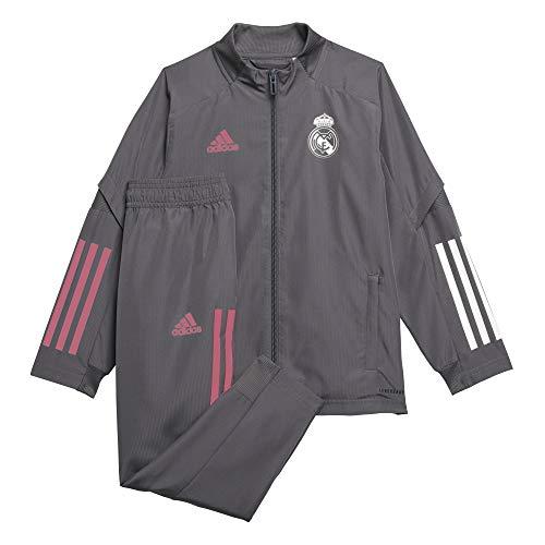 adidas Madrid Temporada 2020/21 Real PRE Suit I Chándal presentación, Unisex, Gricin, 92