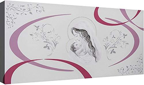 OGGETTANDO Capezzale Sacra Famiglia 08 cm 100x50 Quadri Moderni Soggiorno Stampa su Tela Camera da Letto