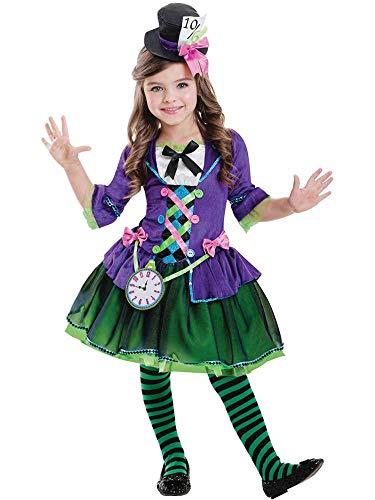 amscan Disfraz de gótico Sombrerero Loco gótico para niños Large (9-10 Years)