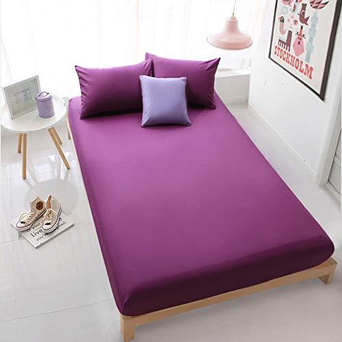 Xiaomizi Nouveau Style Drap de lit uni Couvre-lit en Coton Une pièce Housse de Protection antidérapante