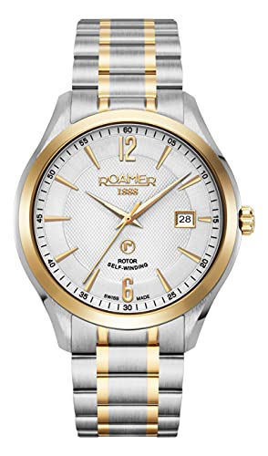 Roamer Reloj de pulsera para hombre Mechaline Pro, 41 mm, pulsera de acero inoxidable 953660 47 14 90