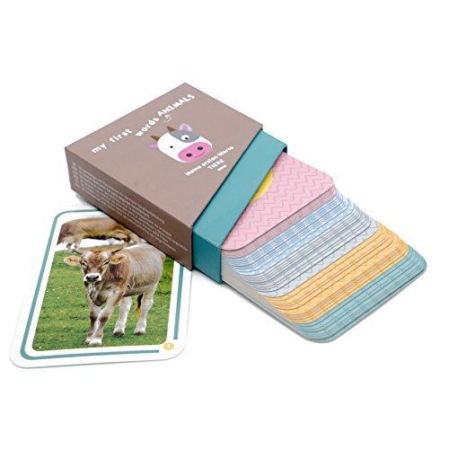 Le mie prime parole - animali: Il gioco educativo da 1 anno di Kakaduu. 50 flash cards (Montessori) con foto di animali per imparare le prime parole.
