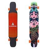 Playshion 39 Inch Drop Through Freestyle Longboard Skateboard Cruiser Mango