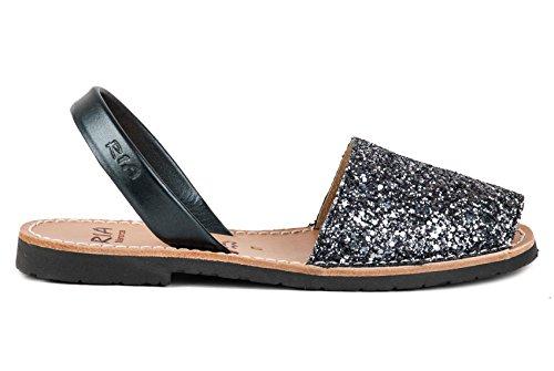 Ria Zapatos Mujer Menorquinas Avarcas 21224 Acero