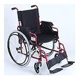 Deportes silla de ruedas de aluminio plegable conveniente del marco de la rueda trasera de amortiguación Sillas de ruedas de luz ultra-bastidor de la camilla plegable del recorrido de tránsito Preside