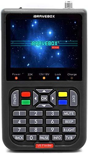 Sat Finder Meter Buscador de satelites Digital V8 Digital Buscador de Satélite Medidor de Campo HDTV DVB-S/S2, 3.5' LCD