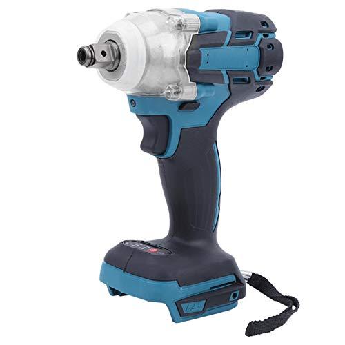 Fafeicy Llave de impacto, llave eléctrica sin escobillas de 21 V, torque máximo de 520 (Nm), recargable, para batería Makita de 18 V