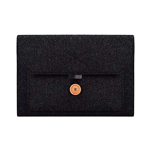 Yxxc Universal ND06 laptop bag 15.4-inch multi-function felt button laptop inner bag (black) (Color : Black)