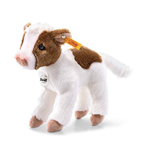 Steiff 72154 Kuh, weiß/braun gefleckt, 16 cm