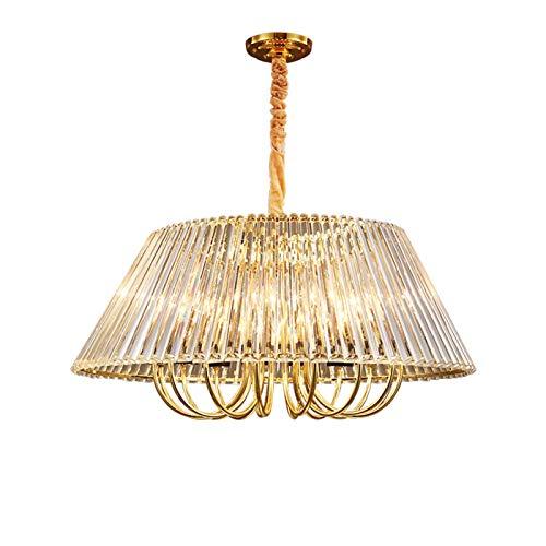 YQDSY Luz de Cristal de Cristal de Paraguas de Lujo Moderno, Lámparas de Techo Ajustables de Oro E14 Lámpara de Cristal Transparente Lámparas Colgantes para Salón Comedor-Dorado 60