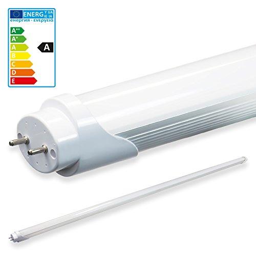 LEDVero 1x SMD Tubo/tubo LED fluorescente T8 G13 -Cover bianco opaco 180 cm, 32 W, 3200lumen- pronto per l'installazione, Colore Luce:bianco caldo