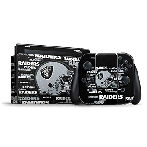Skinit Decal Gaming Skin Compatible with Nintendo Switch Bundle - Officially Licensed NFL Las Vegas Raiders - Blast Alternate Design