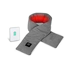 AKASO Neck Heated Scarf, Best Gifts for Women&Men, Rechargeable USB Heated Scarf, 3 Heating Levels, Heat Therapy for Soreness & Stiffness Relief, Recycled Insulation, 5000mAh Power Bank