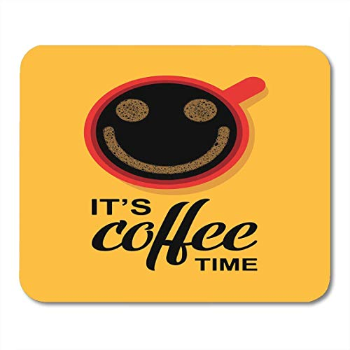 Mouse pad smile time für kaffeetasse break break breakfast cafe mousepad für notebooks, Desktop-computer mausmatten, Büromaterial