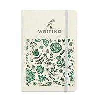 植物の葉緑の花を描く ノートブッククラシックジャーナル日記A 5を書く