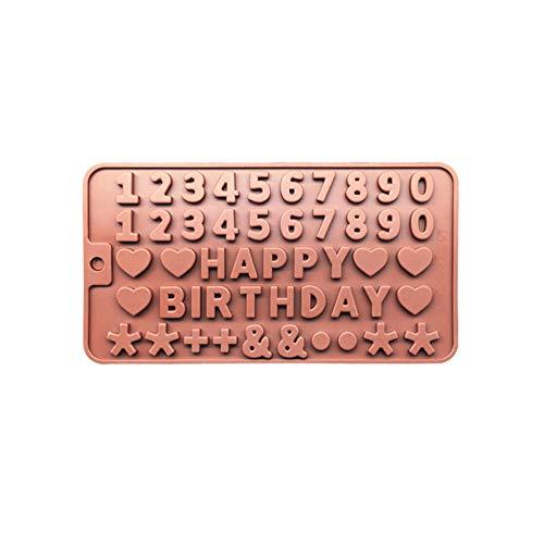 ZHENGCHENG Backwerkzeuge Kuchen Brief Nummer Form Silikon Schokolade Alphabet Form Form Für Eiswürfel DIYGeburtstagsgeschenkform