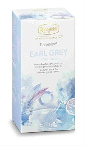 Ronnefeldt - Teavelope® - Teebeutel - Earl Grey - Aromatisierter Schwarzer Tee - 6er Pack - (25 x 1,5g)