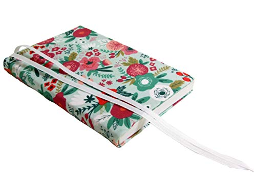 6 Inch Trade Paperback Book Cover 6x9 to 5.5x8.5, MINT FLORAL Stretch Fabric Book Sleeve for Paperback or Hardcover Books and Journals, Small Book Covers for Paperbacks