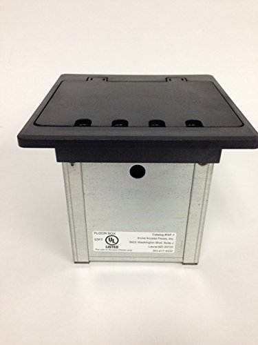Access Floor Systems Compact Electrical Box with Cover   Easy Install   Heavy Duty   UL Listed   MADE IN USA
