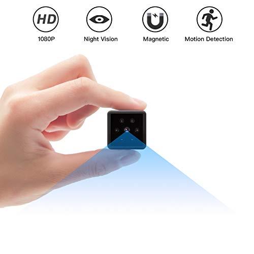 Camara Espia, Mini Camara Espia 1080P HD Cámara Espía de Seguridad con Visión Nocturna Detección de…