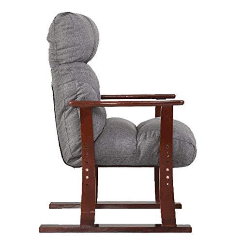 HYY-YY Sofa Recliner Sessel Jahrgang Sitz Akzent-Stuhl Schlafzimmer Speisezimmer Wohnzimmer Lounge Büro-Club Diwans (Farbe: Grau, Größe: 63 * 65 * 95cm)