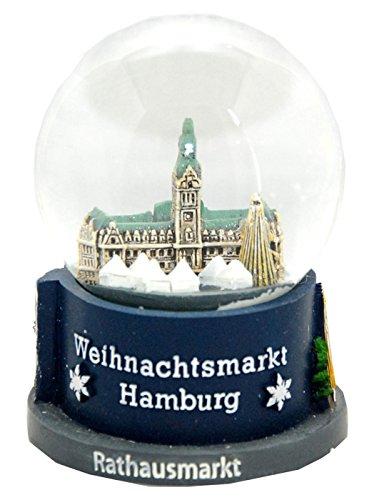 Souvenir Schneekugel Weihnachtsmarkt Hamburg -30022