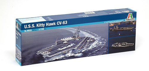 Italeri 5522S USS Kitty Hawk CV-63 - Maqueta de Barco portaaviones (Escala 1:700)