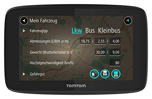 TomTom LKW Navigationsgerät GO Professional 520 (5 Zoll, Sonderziele und Routen für LKW, Stauvermeidung dank TomTom Traffic, Karten-Updates Europa, Updates über Wi-Fi, hochwertige Halterung)