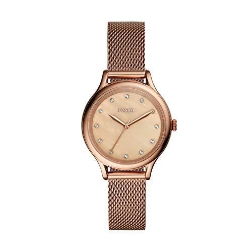 Fossil - Reloj de Cuarzo de Acero Inoxidable para Mujer BQ3392