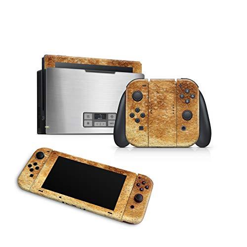 46 North Design Switch Skin für Konsole und JoyCons, gleiche Abziehbildqualität für Autos, Toastbrot Toast Silber Edelstahl Kochsandwich, Hochwertig, Langlebig, Blasenfrei, Hergestellt in Kanada