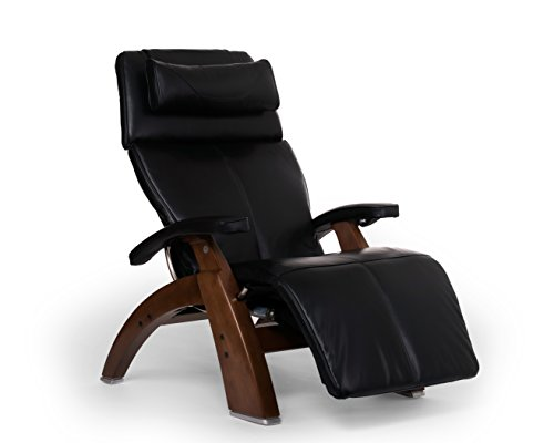 Perfect Chair Human Touch PC-610 Live Power Omni-Motion Walnut Zero-Gravity Recliner Premium Leather Fluid-Cell Cushion Memory Foam Jade Heat