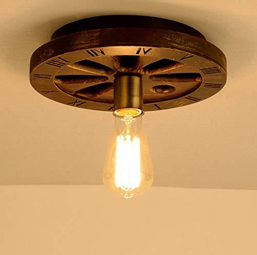 Creatieve Retro Licht Industriële Wind Wheel maken De Oude Houten CAF; Bar Restaurant Persoonlijkheden Art Amerikaanse Plafond E27