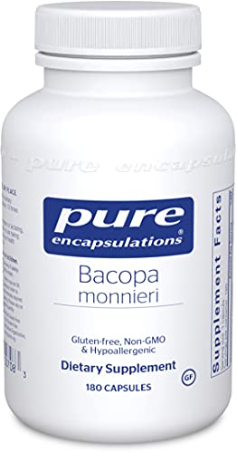Pure Encapsulations Bacopa Monnieri | Supplement for Brain, Memory, Concentration, Mental Focus, Stress Support, and Cognitive Health* | 180 Capsules