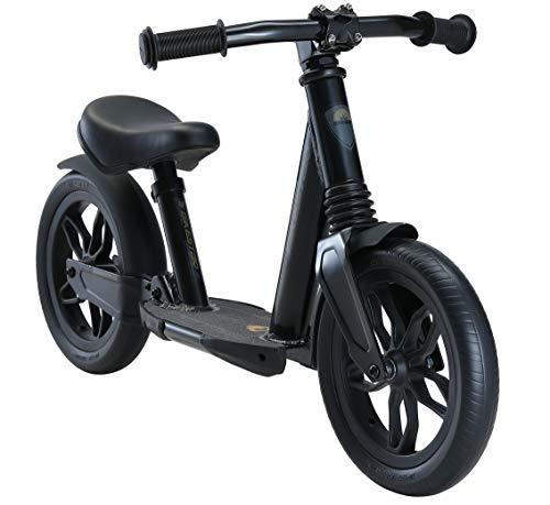 BIKESTAR Vollgefedertes Alu Kinder Laufrad Rad für Jungen und Mädchen ab 2 - 3 Jahre | 10 Zoll Lauflernrad Fully | Risikofrei Testen | Schwarz