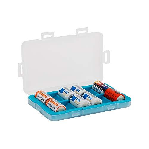 JJC Funda de batería a prueba de humedad para 12 pilas recargables CR2/CR15H270, caja de almacenamiento de baterías, organizador de baterías