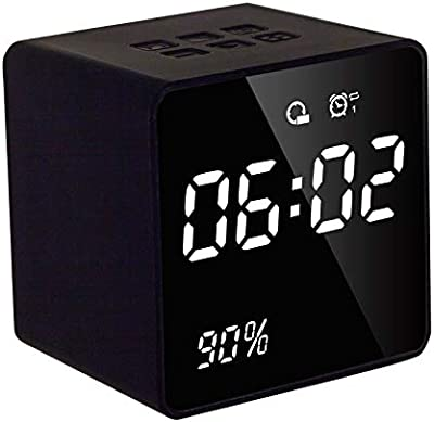 Enterrific LED Screen Alarm Clock Radio Power Display Digital Clock Bluetooth Speakers
